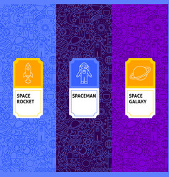 line space package labels vector image