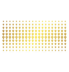 Map pointer gold halftone matrix vector