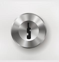 metal badge keyhole vector image