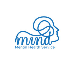 mindful logo concept simple modern for health vector image