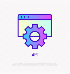 modeling api thin line icon vector image