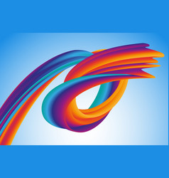modern colorful flow wave liquid shape vector image