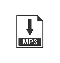 Mp3 file document icon download mp3 button icon vector