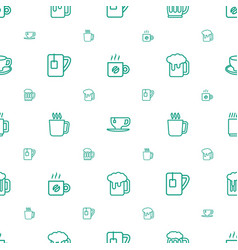 Mug icons pattern seamless white background vector