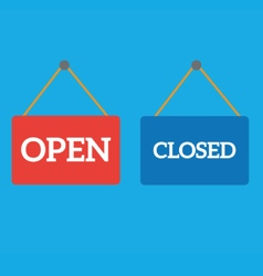 open closed door sign vector image
