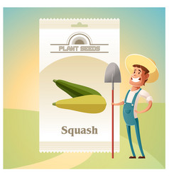 Pack of squash seeds icon vector