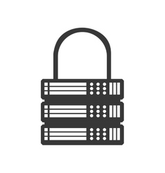 Padlock data center security system protection vector