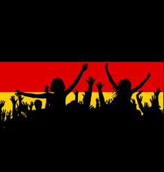 people silhouettes celebrating germany national vector image