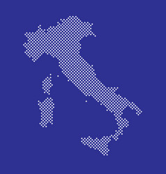 pixel map italy dotted map italy vector image