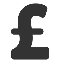 Pound Sterling Flat Icon Symbol vector image