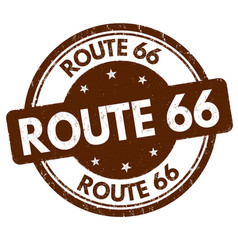 route 66 grunge rubber stamp vector image