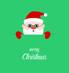 santa claus on green background santa clause on vector image