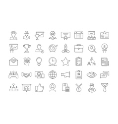 Set Flat Line Icons Business Training vector image