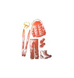 ski resort winter equipment clothing concept vector image