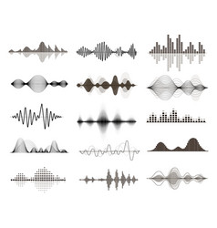 sound waves set audio music waveform vector image