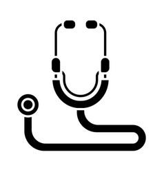 stethoscope glyph icon vector image
