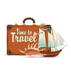 still life on tourist theme vector image