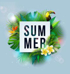 summer holiday with flower and vector image