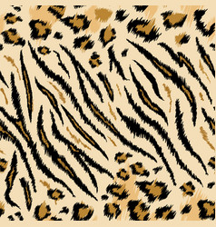 tiger leopard texture seamless animal pattern vector image