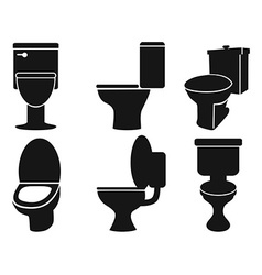 toilet silhouettes vector image