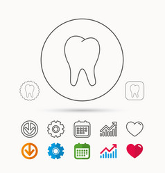Tooth icon stomatology sign vector