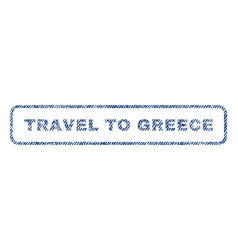Travel to greece textile stamp vector