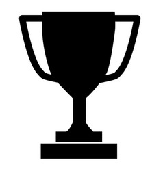 trophy icon on gray background flat style trophy vector image