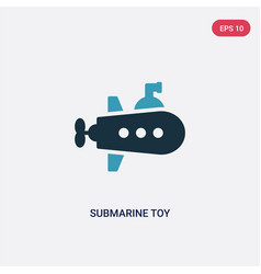 Two color submarine toy icon from toys concept vector