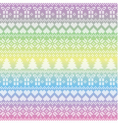 Unicorn style nordic christmas pattern vector