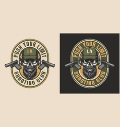 vintage special forces colorful emblem vector image