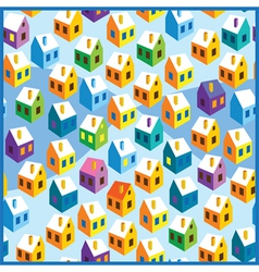 winter houses pattern vector image