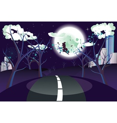 Witch is Coming to the City3 vector image