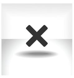 X mark icon vector