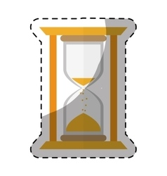 Yellow stop watch and hourglass icon design vector