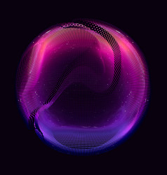 abstract violet colorful mesh sphere vector image vector image