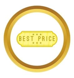 Best price label icon vector image