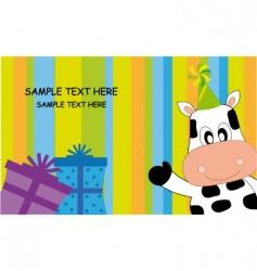 birthday cow vector image vector image