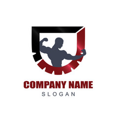gym logo 5 vector image