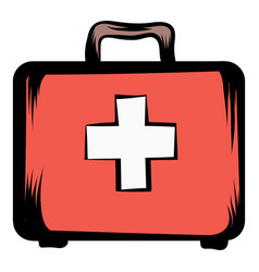 medicine chest icon cartoon vector image