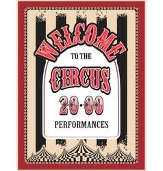 retro poster circus vector image