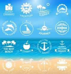 Set Summer LabelsTemplates vector image vector image