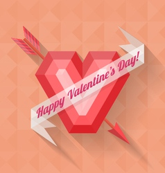 abstract arrow heart happy valentine banner vector image