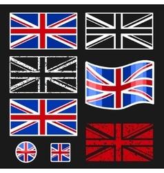 British Flag Set vector image