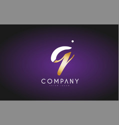 Q alphabet letter gold golden logo icon design vector