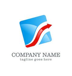 arrow business finance logo design vector image vector image