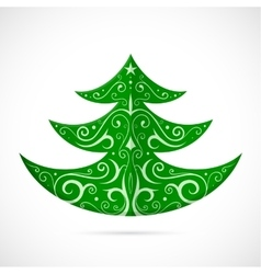 Christmas tree as symbol for winter Holidays vector image