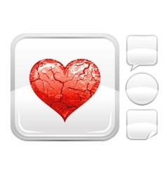 Happy Valentines day romance love heart Grunge vector image vector image