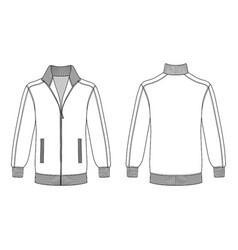 jacket with zipper vector image vector image