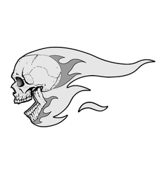 Skull with Flames Fliying vector image vector image