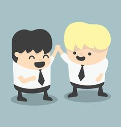 Businessman and boss high five congratulate vector